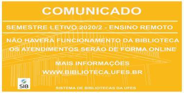 comunicado sobre funcionamento da biblioteca